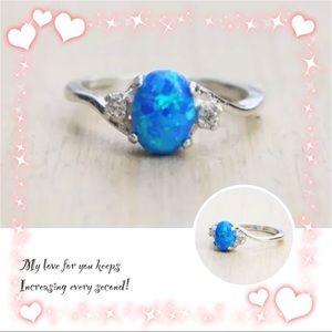 💚NEW💚Blue Fire Opal Ring